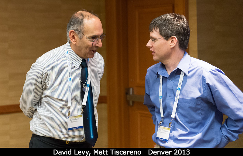 David Levy and Matt Tiscareno (Cornell) during the HAD session.<br /> <br /> Credit: Henry Throop<br /> Oct 2013<br /> DPS45 Denver