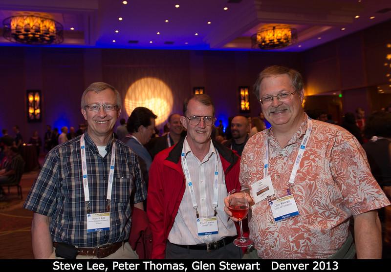 Steve Lee (DMNS), Peter Thomas (Cornell), and Glen Stewart (U. Colorado).<br /> <br /> Credit: Henry Throop<br /> Oct 2013<br /> DPS45 Denver
