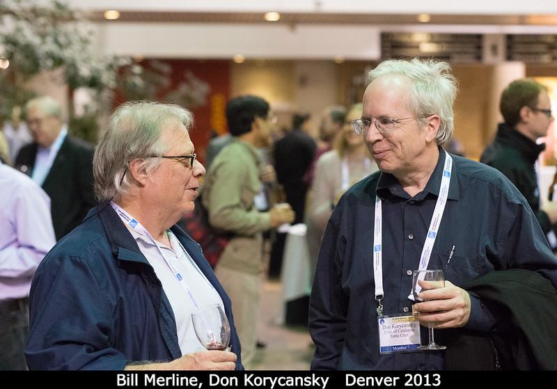 Bill Merline and Don Korycansky (UCSC).<br /> <br /> Credit: Henry Throop<br /> Oct 2013<br /> DPS45 Denver