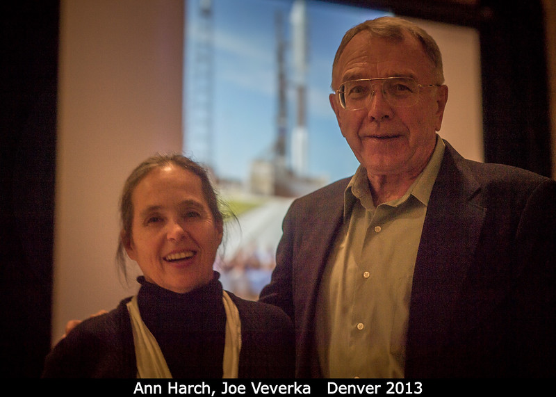 Ann Harch and Joe Veverka (both Cornell) are united by rockets.<br /> <br /> Credit: Henry Throop<br /> Oct 2013<br /> DPS45 Denver