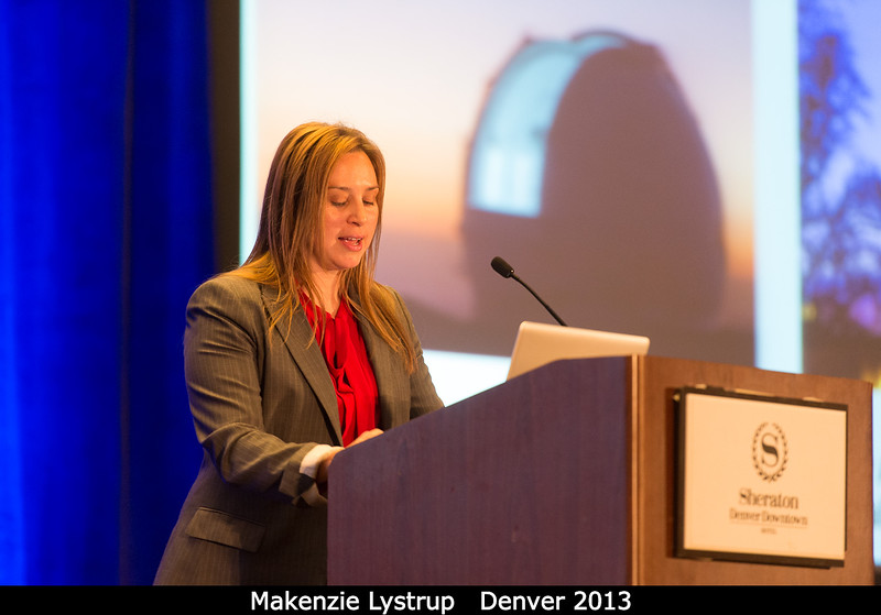Keck has its eyes on Makenzie Lystrup (DPS Federal Relations Subcommittee, and Ball).<br /> <br /> Credit: Henry Throop<br /> Oct 2013<br /> DPS45 Denver