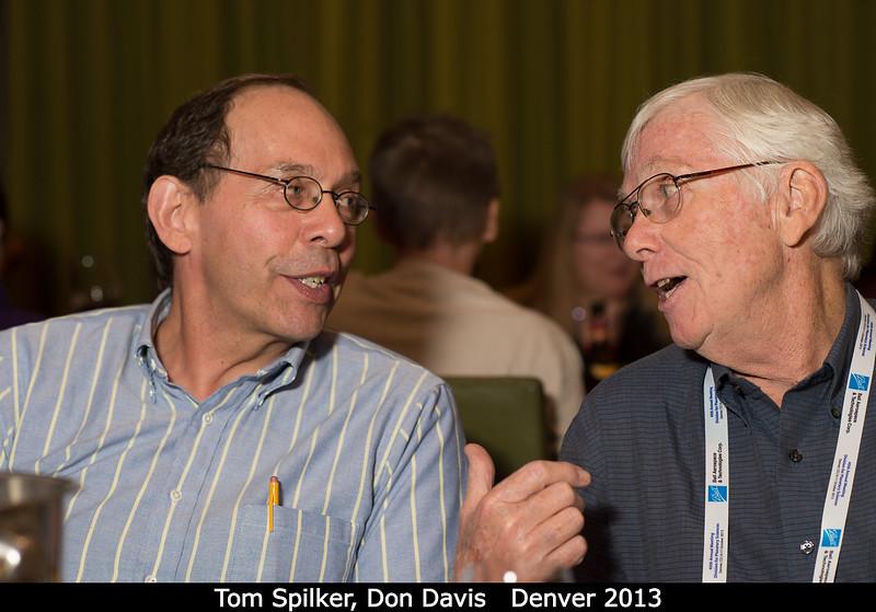 Tom Spilker (ex-JPL) and Don Davis.<br /> <br /> Credit: Henry Throop<br /> Oct 2013<br /> DPS45 Denver