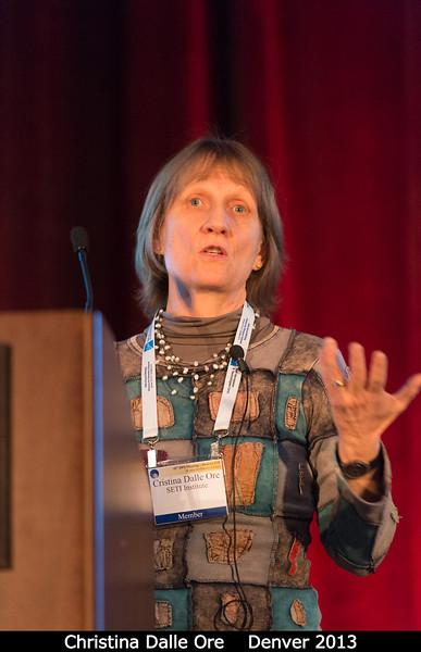 Christina Dalle Ore (SETI).<br /> <br /> Credit: Henry Throop<br /> Oct 2013<br /> DPS45 Denver