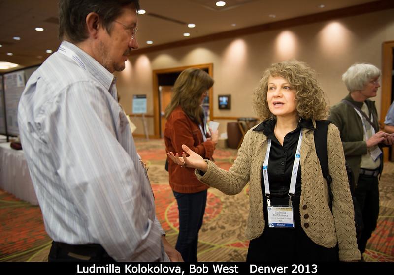 Ludmilla Kolokolova (UMD) and Bob West (JPL).<br /> <br /> Credit: Henry Throop<br /> Oct 2013<br /> DPS45 Denver
