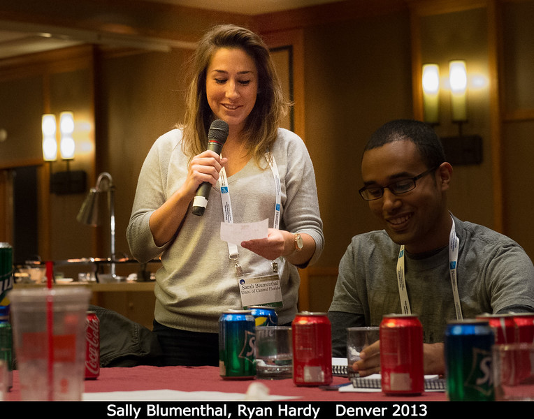 Sally Blumenthal (UCF) and Ryan Hardy (Colorado).<br /> <br /> Credit: Henry Throop<br /> Oct 2013<br /> DPS45 Denver