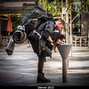 Dogs need hydration breaks too! Taken when I was on a telecon outside of the Sheraton on the on the Denver 16th Street Mall.<br /> <br /> Credit: Henry Throop<br /> Oct 2013<br /> DPS45 Denver