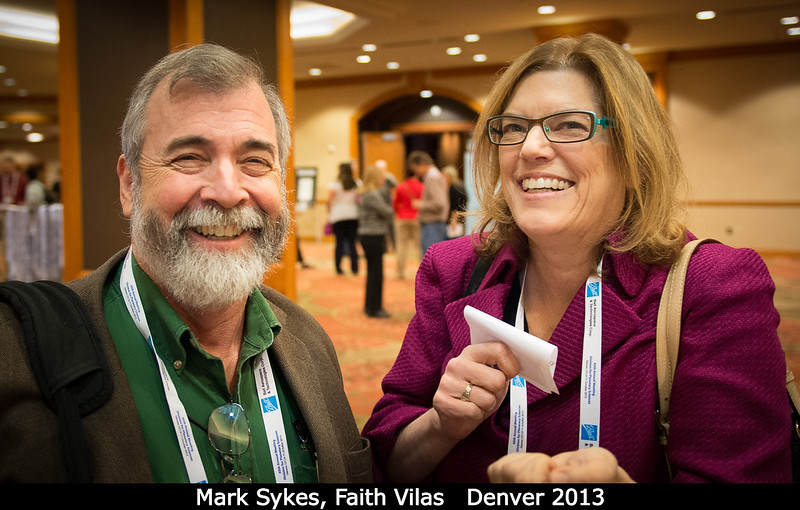 Mark Sykes (PSI) hopes that Faith Vilas (PSI) will take him into space.<br /> <br /> Credit: Henry Throop<br /> Oct 2013<br /> DPS45 Denver