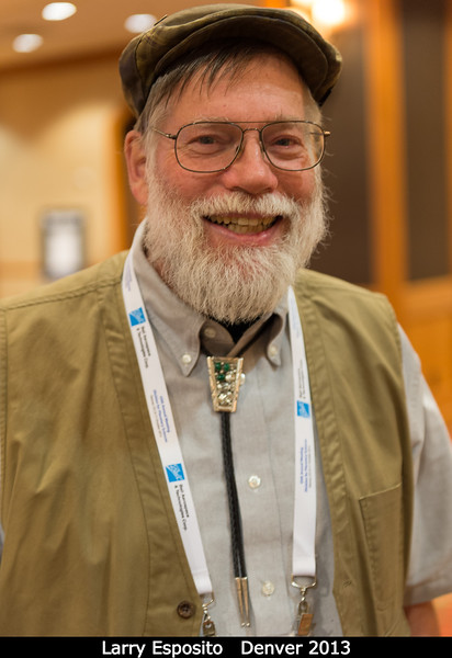 Larry Esposito (U. Colorado) tells me about his daughter's MS thesis on South African elephant behavior.<br /> <br /> Credit: Henry Throop<br /> Oct 2013<br /> DPS45 Denver