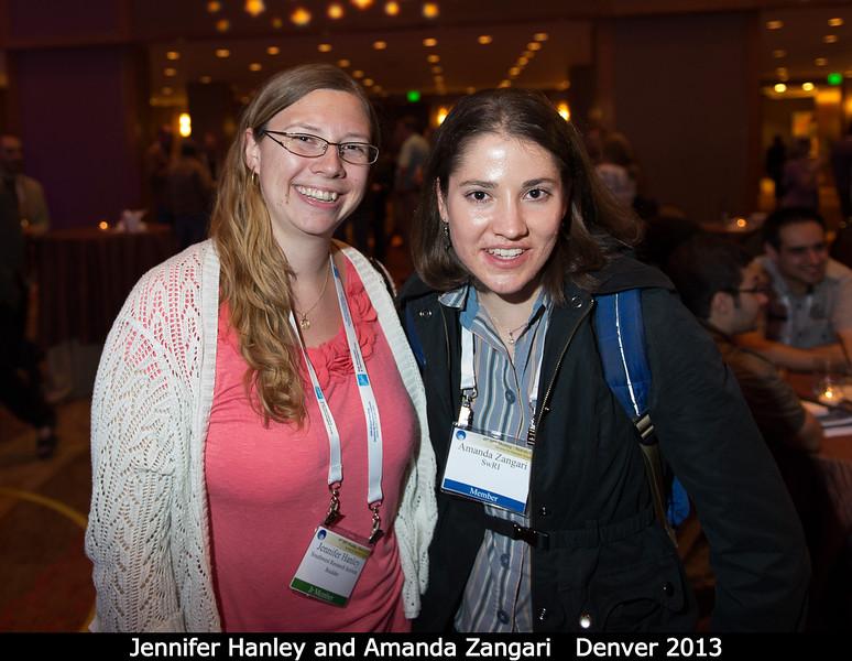 Jennifer Hanley (SwRI) and Amanda Zangari (SwRI).<br /> <br /> Credit: Henry Throop<br /> Oct 2013<br /> DPS45 Denver