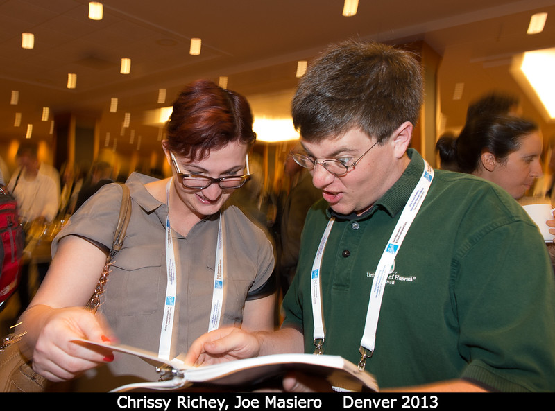 Chrissy Richey and Joe Masiero (JPL) are horrified.<br /> <br /> Credit: Henry Throop<br /> Oct 2013<br /> DPS45 Denver