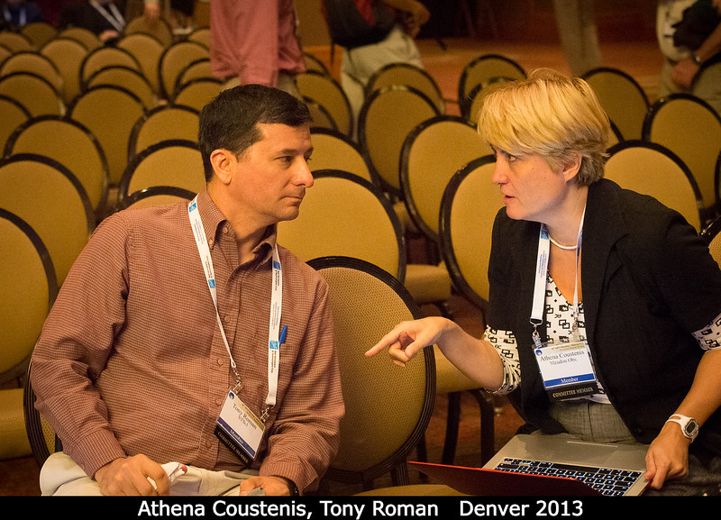Athena Coustenis and Tony Roman.<br /> <br /> Credit: Henry Throop<br /> Oct 2013<br /> DPS45 Denver