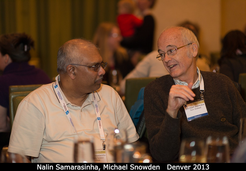 Nalin Samarasinha and Michael Snowden. (If Michael joins PSI, he'd displace me as the furthest-south employee.)<br /> <br /> Credit: Henry Throop<br /> Oct 2013<br /> DPS45 Denver