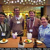 Feng Tian (Tsinghua University, China), Justin Erwin (LPL), Raul Ries (JPL) and Angela Zalucha (SETI) have some munchies.<br /> <br /> Credit: Henry Throop<br /> Oct 2013<br /> DPS45 Denver