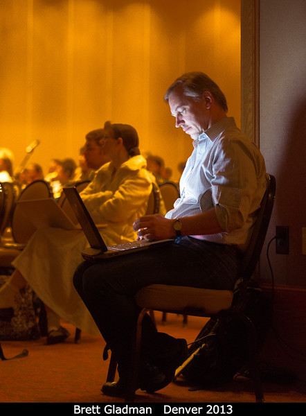 Brett Gladman (UBC) sees the light.<br /> <br /> Credit: Henry Throop<br /> Oct 2013<br /> DPS45 Denver