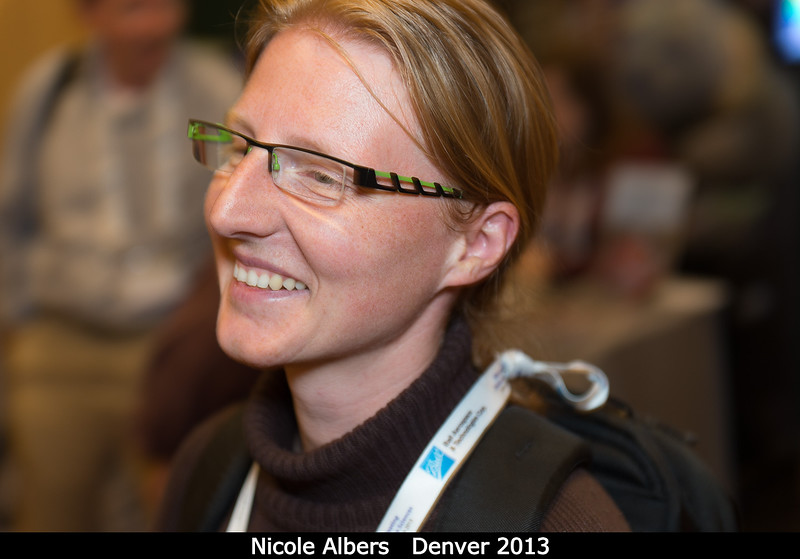 Nicole Albers (U. Colorado).<br /> <br /> Credit: Henry Throop<br /> Oct 2013<br /> DPS45 Denver