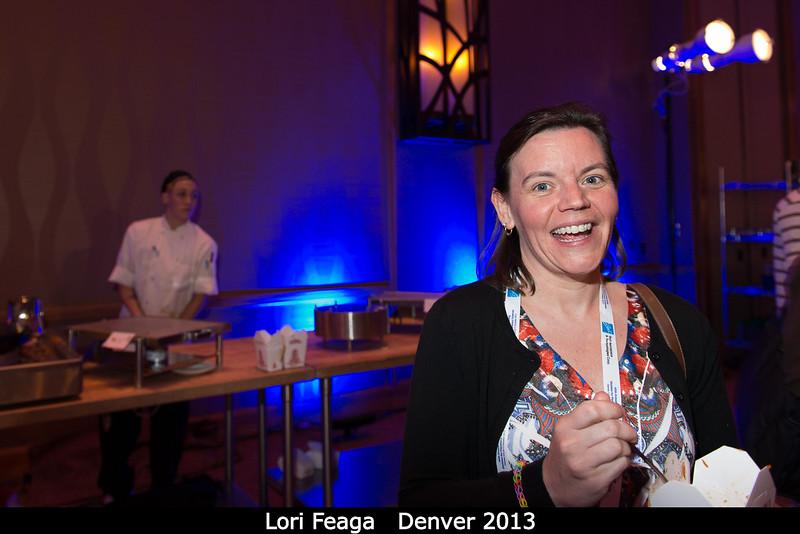 Lori Feaga (UMD) handles her chopsticks.<br /> <br /> Credit: Henry Throop<br /> Oct 2013<br /> DPS45 Denver