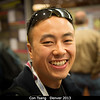 Con Tsang (SwRI) loves poster sessions.<br /> <br /> Credit: Henry Throop<br /> Oct 2013<br /> DPS45 Denver
