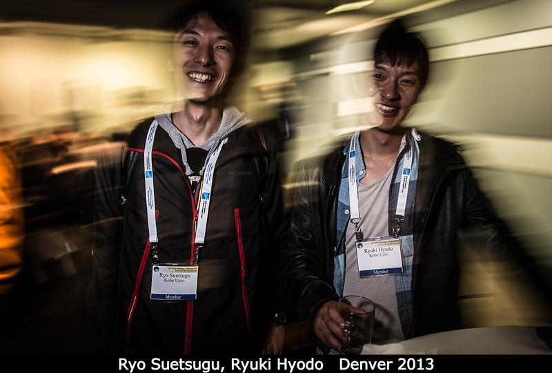 Ryo Suetsugu and Ryuki Hyodo (both Kobe University), exploring Mars.<br /> <br /> Credit: Henry Throop<br /> Oct 2013<br /> DPS45 Denver