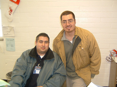 Oscar and Elmer at District 15 Metro East.  December 27, 2002.