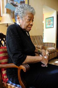 WINSTON SALEM: MAYA ANGELOU AT HOME IINTERVIEW.(Photos by Valerie Goodloe