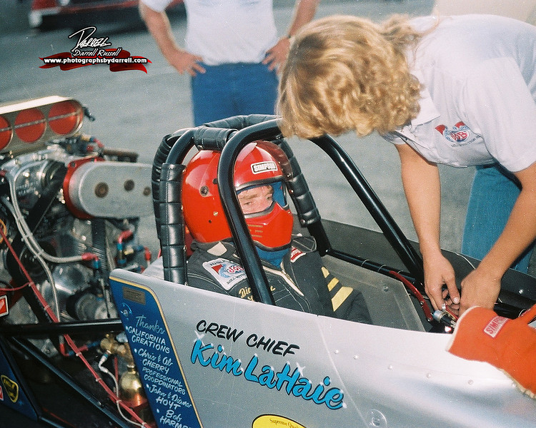 EYES OF A NHRA TOP FUEL CHAMPION DICK LAHAIE.