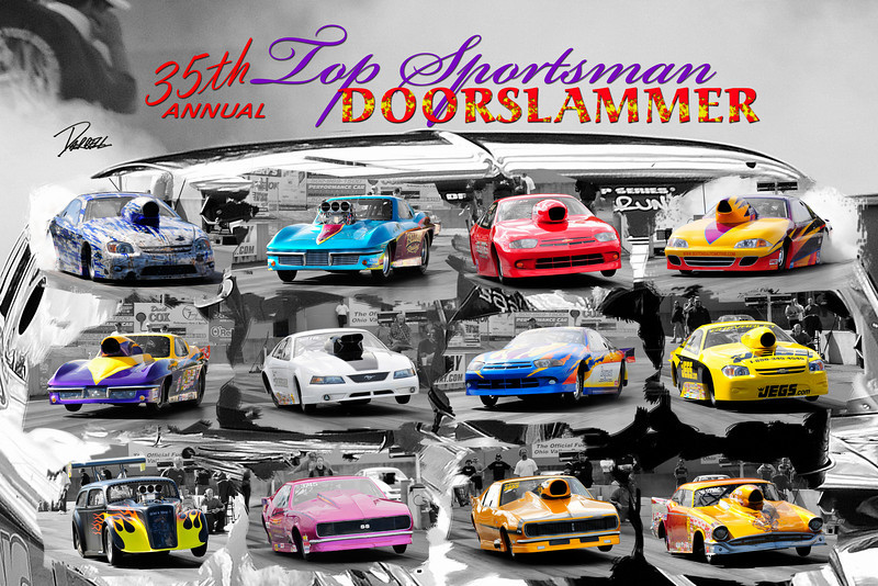Item# 1035 -Top Sportsman 35th Doorslammer - 12 x 18
