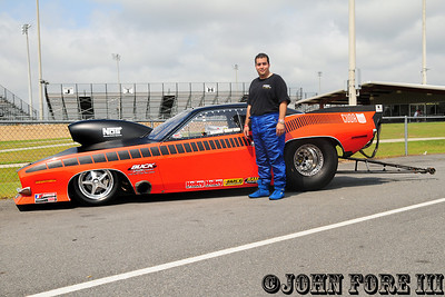 Raymond Matos from Puerto Rico purchased Radford's Cuda and went on to win Drag Stock V in the Pro Nitrous class.
