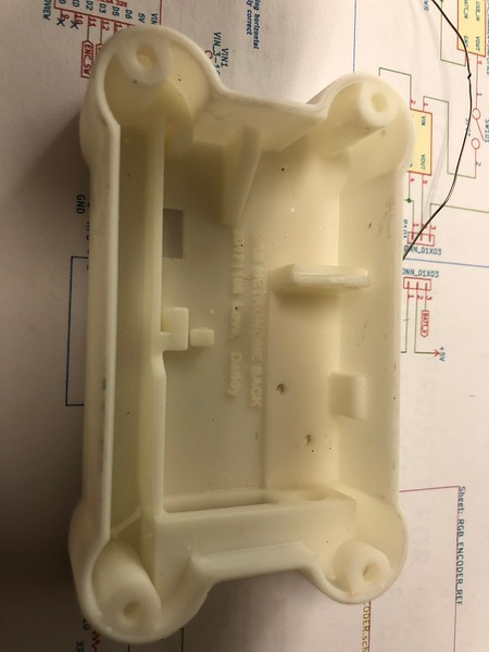 Internals of the DRB Metronome project.  A highly integrated metronome  inside a custom 3D printed chassis.