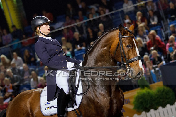 Kira KANERVA - DORAZIO @ Tallinn International Horse Show 2014, CDI-W GP Freestyle. Foto: Kylli Tedre / www.kyllitedre.com