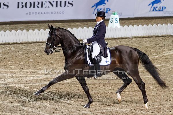 Elisabet EHRNROOTH - WIZARD II @ Tallinn International Horse Show 2014, CDI-W GP Freestyle. Foto: Kylli Tedre / www.kyllitedre.com