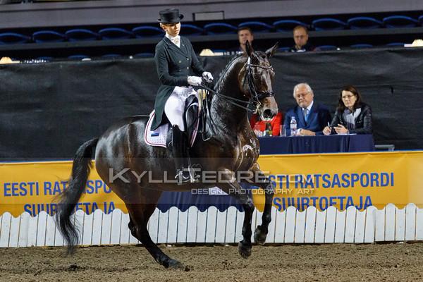 Dina ELLERMANN - LANDY S AKVAREL @ Tallinn International Horse Show 2014, CDI-W GP Freestyle. Foto: Kylli Tedre / www.kyllitedre.com
