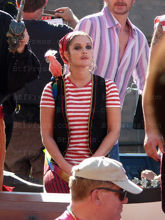"Drew Barrymore during the set of "" He's Just Not That Into You "" in Los Angeles, on September 13, 2007."