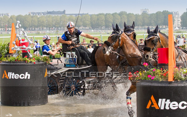 Driving Marathon @ Alltech FEI World Equestrian Games 2014, Normandy. COUDRY Thibault FRA. Photo: Kylli Tedre / www.kyllitedre.com