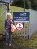 Liz <br /> <br /> By the Crewe Cresty Bridge <br /> <br /> DRS sign <br /> <br /> to go with the Carlisle sign at the 2011 open day we attendaned