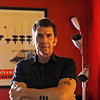Jerry Stahl in the Red Room in his Los Angeles home.