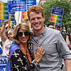 Spiritual Ecstasy Enterprise's Misti Cooper Spiritual Alchemist® and Joe Kennedy who's running for Congress at Gay Pride in Boston  #WickedPride