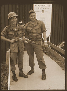 Sharons Dad - Gilbert on the right while in Viet Nam