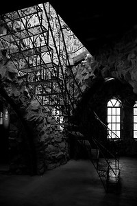 Bishop's Castle staircase