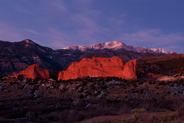 Sunrise at Garden of the Gods
