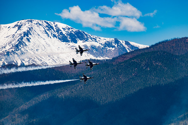 USAF Thunderbirds by Pikes Peak