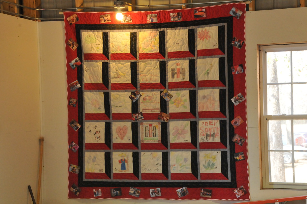 At DSCF 2010, Ms. E got the kids and the ladies to create a quilt square using color crayons.  Here is the finished product.