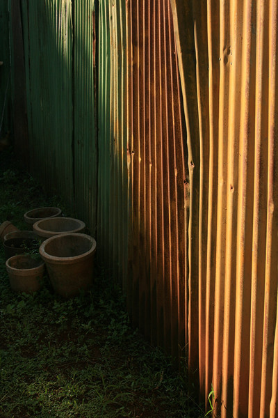 empty pots in my grandma's garden, lanai city, HI