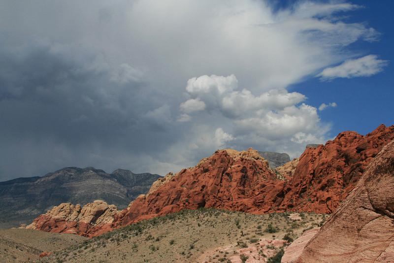 thunderstorm over red rocks, NV