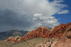 thunderstorm over red rocks, NV