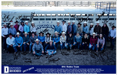 2017-2018 DSU Rodeo Team SIGNED