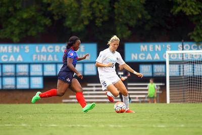 Katie Bowen takes control of the ball.