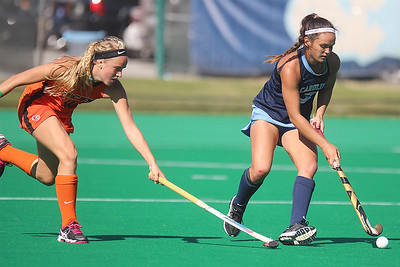Sophomore midfielder Kristy Bernatchez shields the ball from a Pacific defender during the second half of UNC's 7-0 rout of the Tigers.