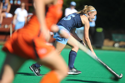 Tyler Powell streaks downfield during Sunday's game against Pacific. The Tar Heels cruised to an easy 7-0 victory.
