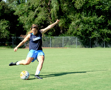 Paige Nielsen poses during a soccer practice Wednesday afternoon at Finley Fields.