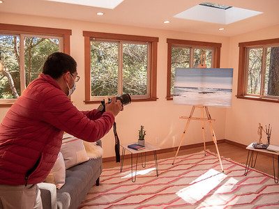Cesar on a real estate shoot in Mill Valley, CA. The goal was to take drone footage and still photos for the client. Photo taken by Chris Grimshaw photo235